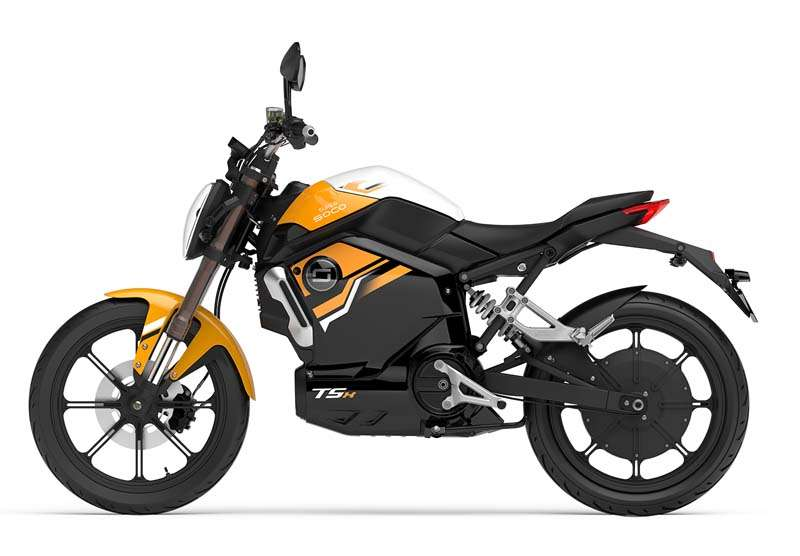 elektricen moped supersoco TSX - oranzen