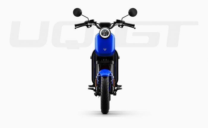 elektricni moped NIU UQi GT - moder, spredaj