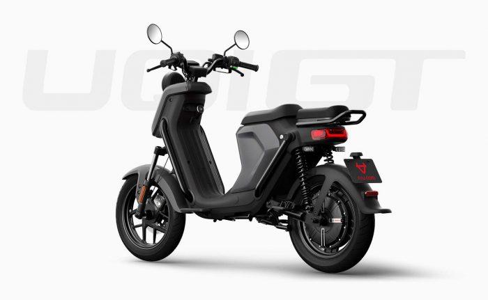 elektricni moped NIU UQi GT, srebrn