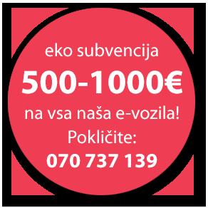 eko subvencija elektricni skuter