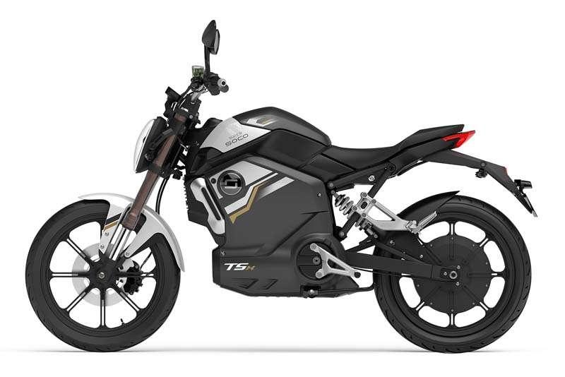 elektricen moped supersoco TSX - siv