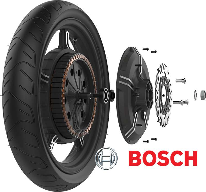 supersoco in-wheel pogon Bosch